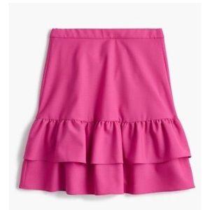 NWT J Crew Pink Ruffle Skirt 💕